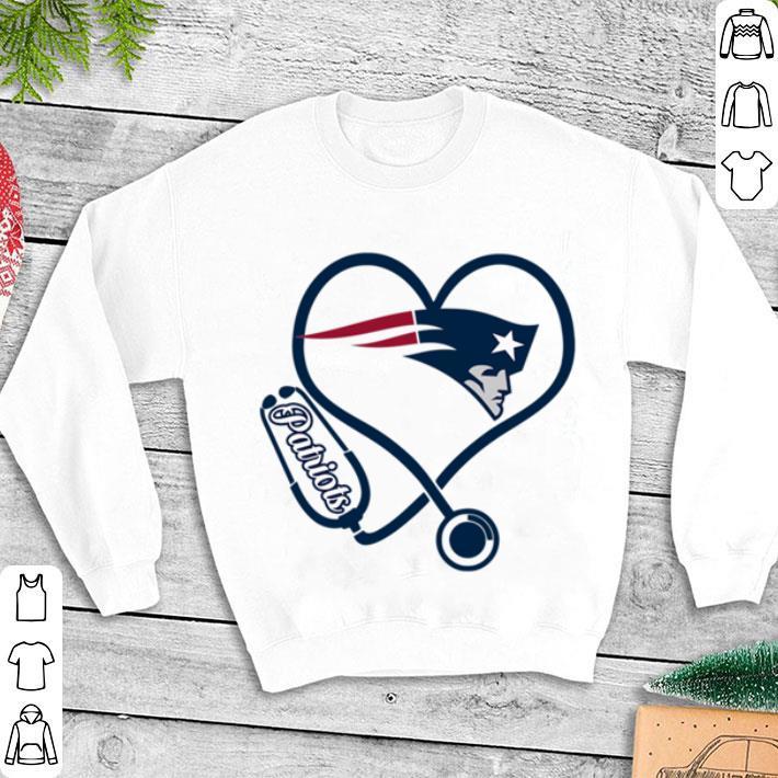 Nurse New England Patriots heart shirt