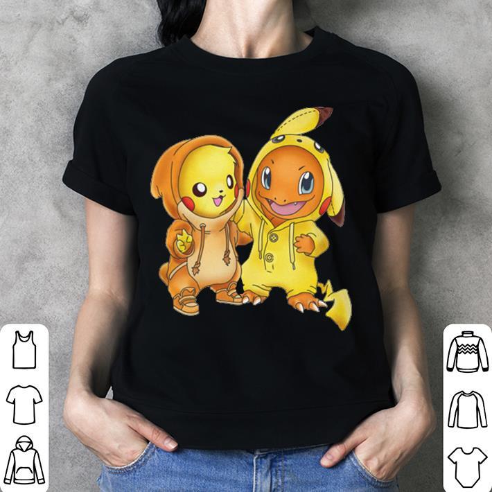Pokemon Baby Pikachu and Hitokage shirt 3