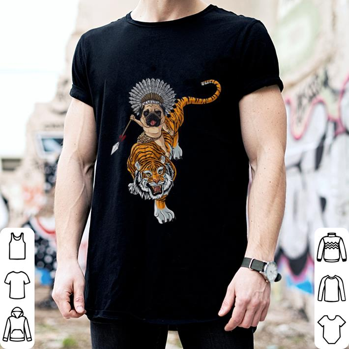 Pug riding Tiger shirt