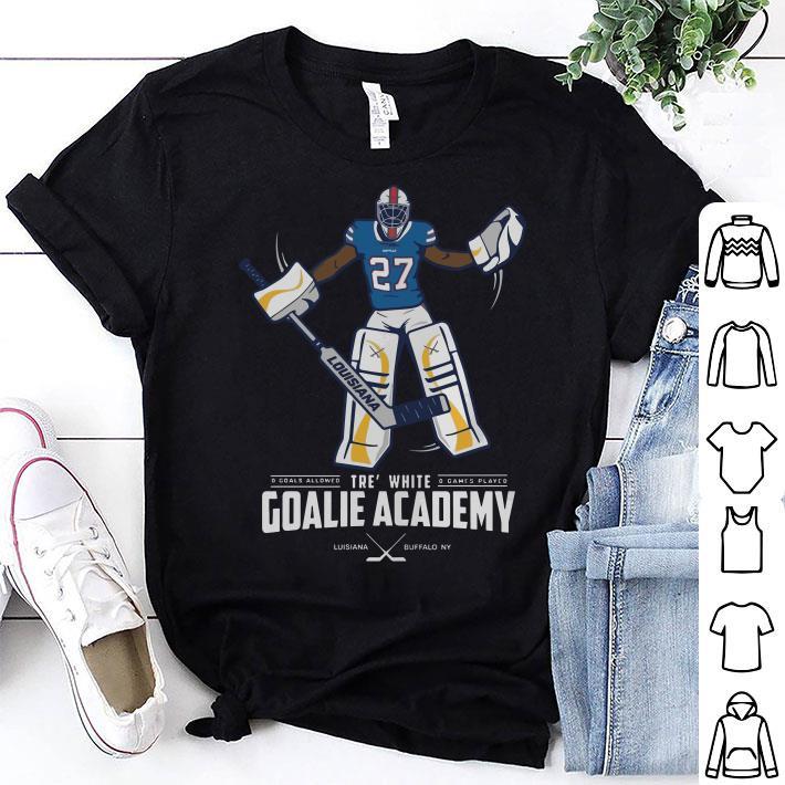 Tre' white goalie academy shirt