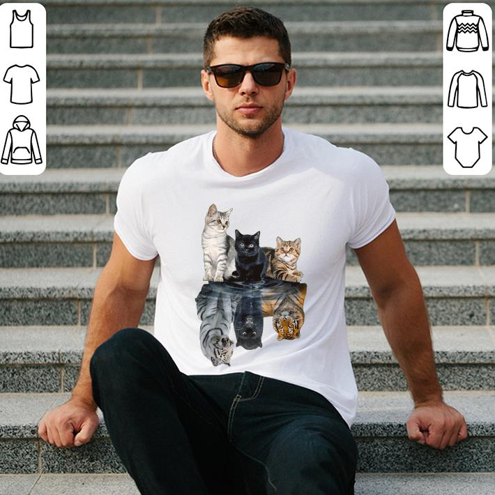 Underwater cat's shadow like tiger and panther shirt