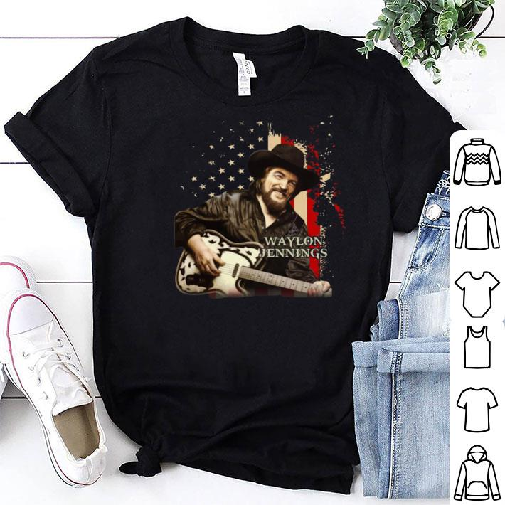 Waylon Jennings American Flag shirt
