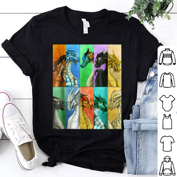 Wings of fire all kind dragon shirt