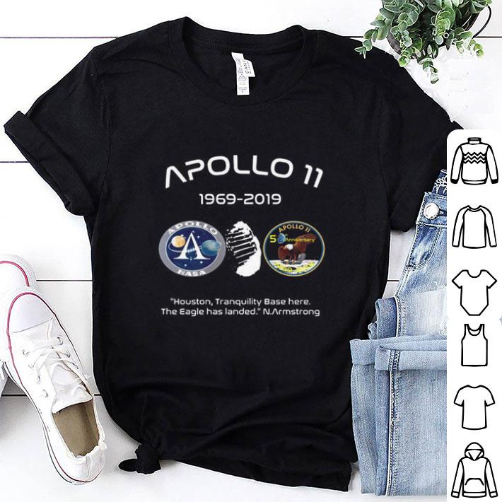 Apollo 11 Houston tranquility base here the Eagle has landed N.Armstrong shirt