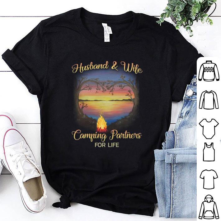 Husband & wife camping partners for life shirt