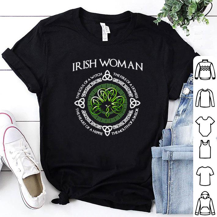 Irish woman The soul of a witch the fire of a lioness the heart of a hippie shirt