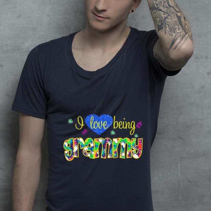 Heart I love being grammy shirt