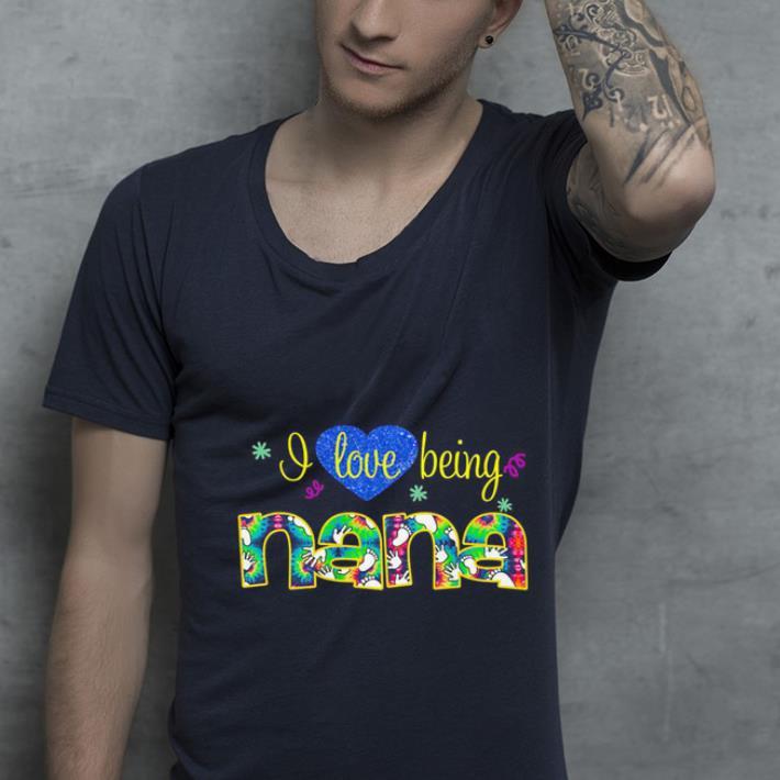Heart I love being nana shirt