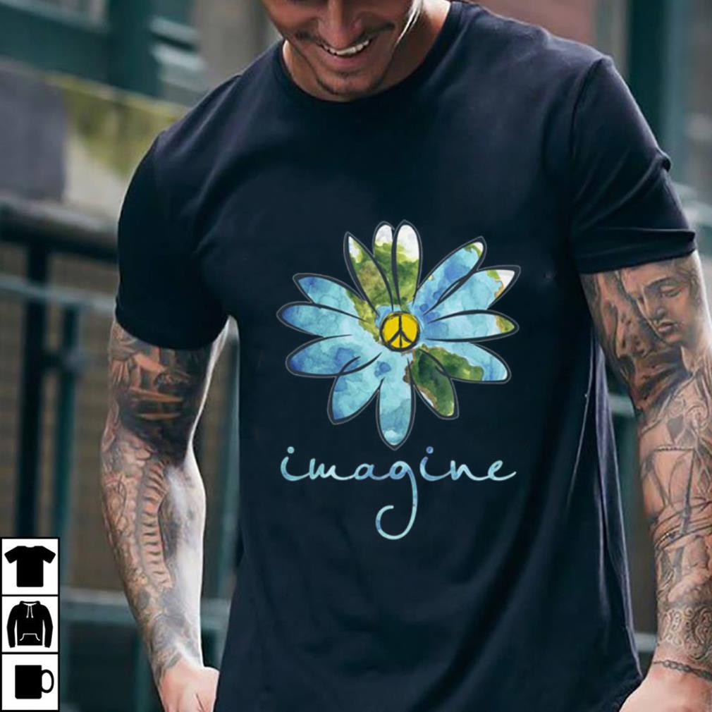 Imagine Hippie Peace Sign Earth shirt
