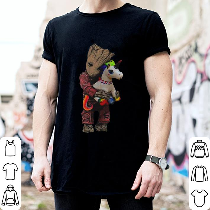 Baby Groot hug unicorn Marvel Avengers shirt 2