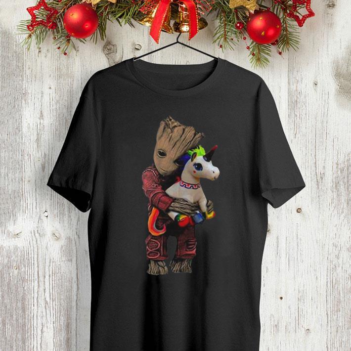 Baby Groot hug unicorn Marvel Avengers shirt