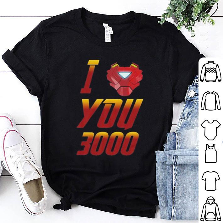 I Love You 3000 Avengers Endgame Iron Man Tony Stark shirt