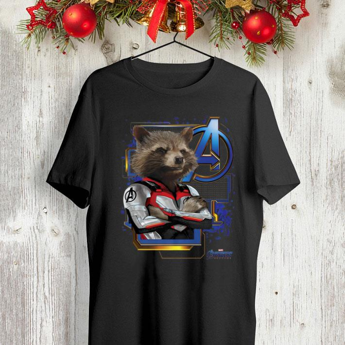 Marvel Avengers Endgame Rocket Raccoon Logo shirt