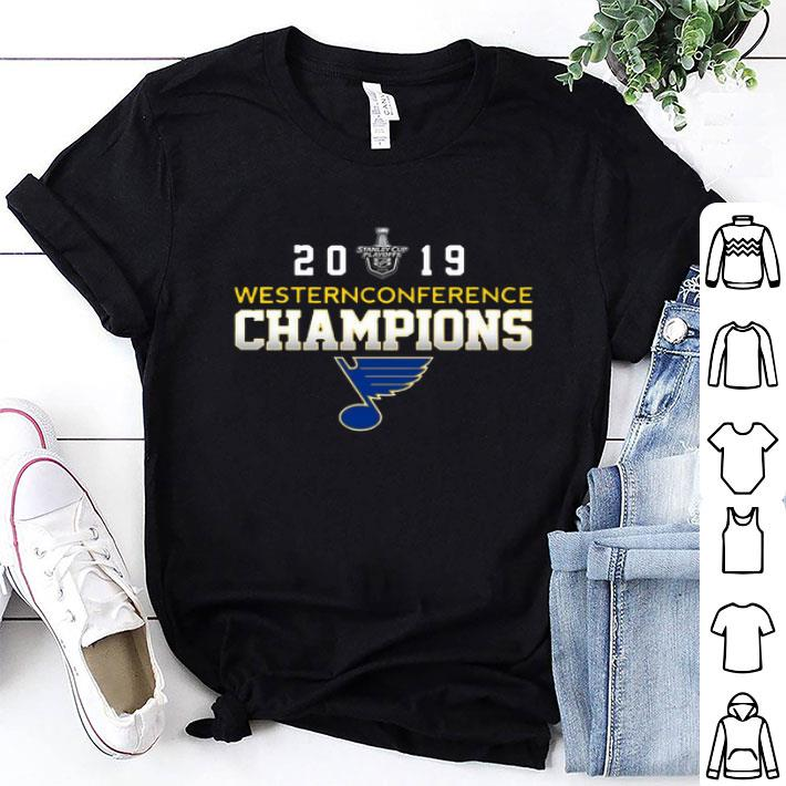 2019 Western Conference Hockey Champions St. Louis Blue shirt
