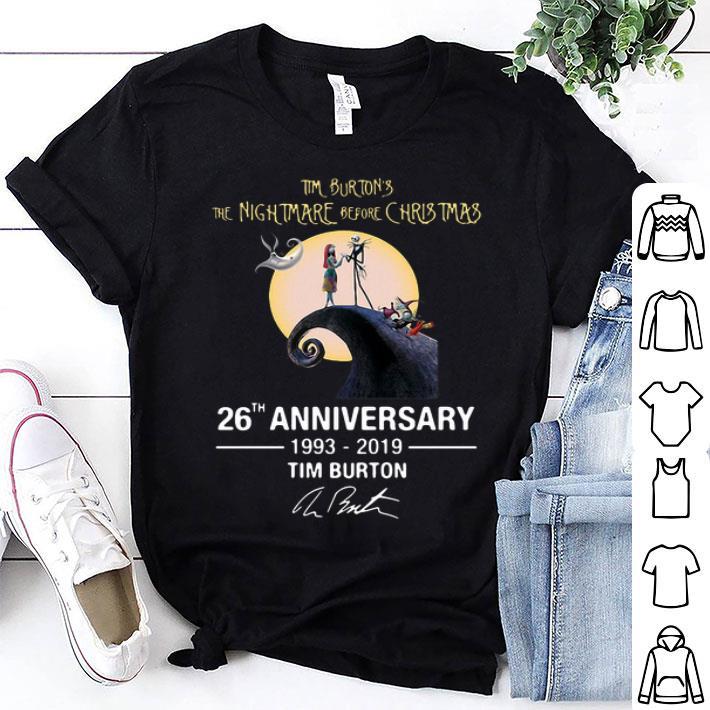 d0f3d935 Tim Burton's the nightmare before Christmas 26th anniversary shirt ...