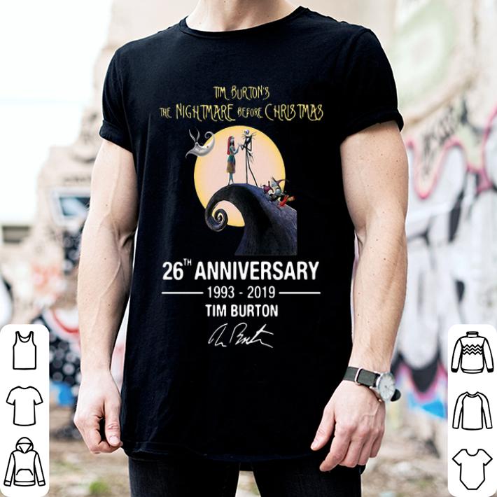 Tim Burton's the nightmare before Christmas 26th anniversary shirt