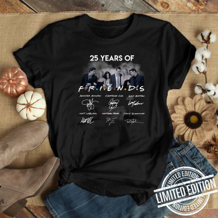 25 years of Friends signatures shirt