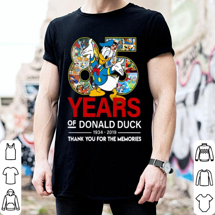 18482029 85 years of Donald duck 1934-2019 thank you for the memories shirt ...