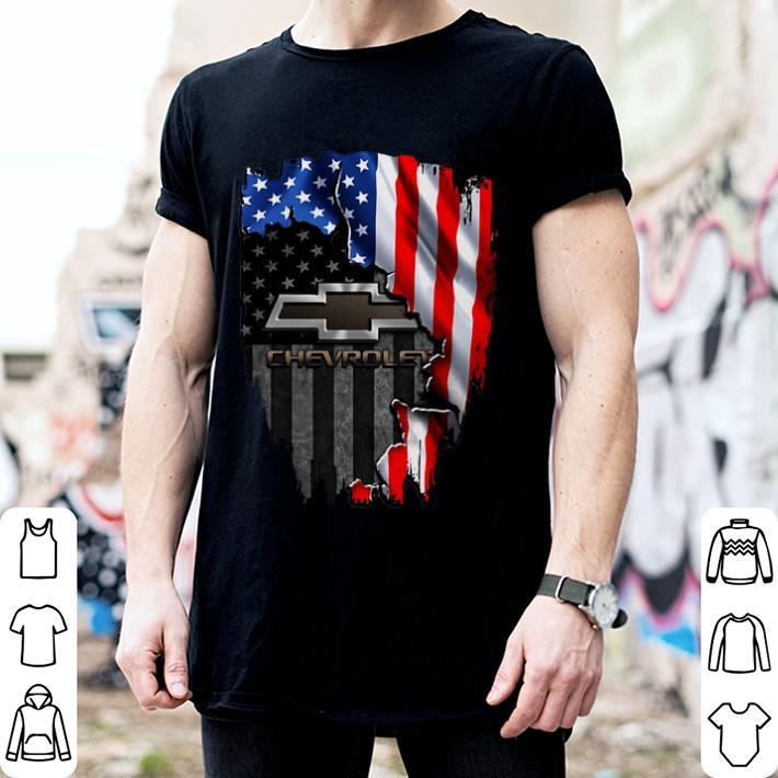 America flag Chevrolet shirt