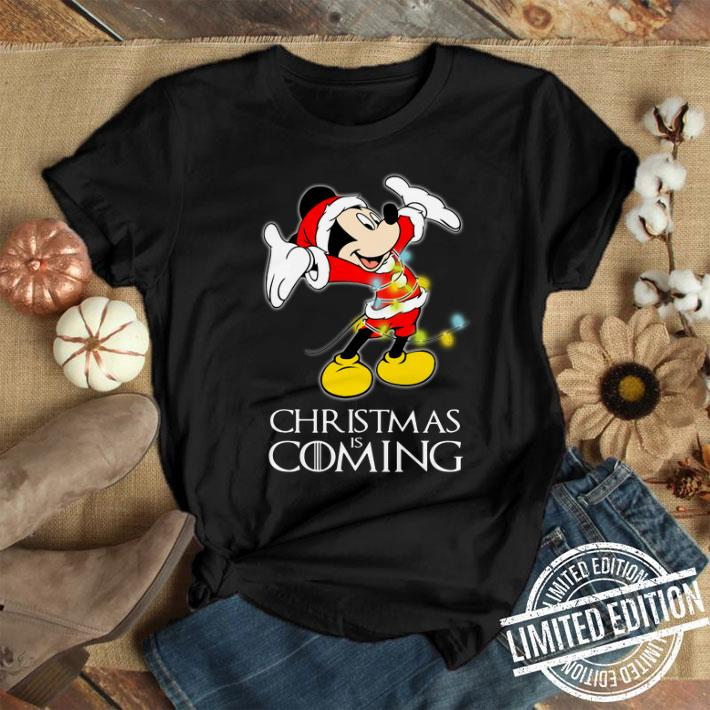 Game Of Thrones Christmas Is Coming Disney Mickey Mouse shirt