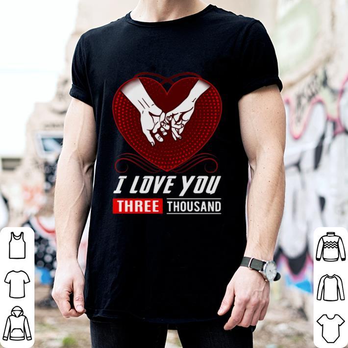 Heart I love you three thousand Marvel Studios shirt