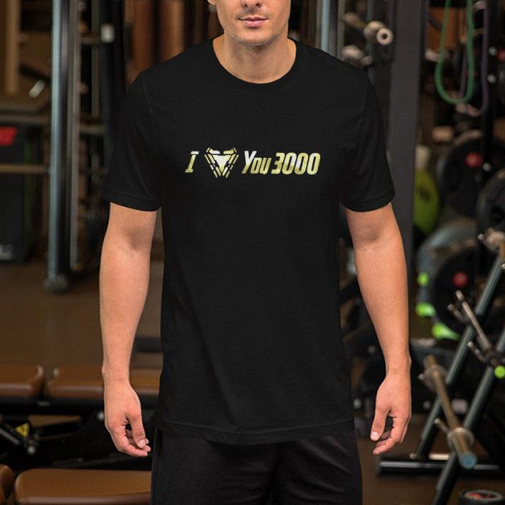 I Love You 3000 Dad and Daughter Iron Man Arc reactor shirt