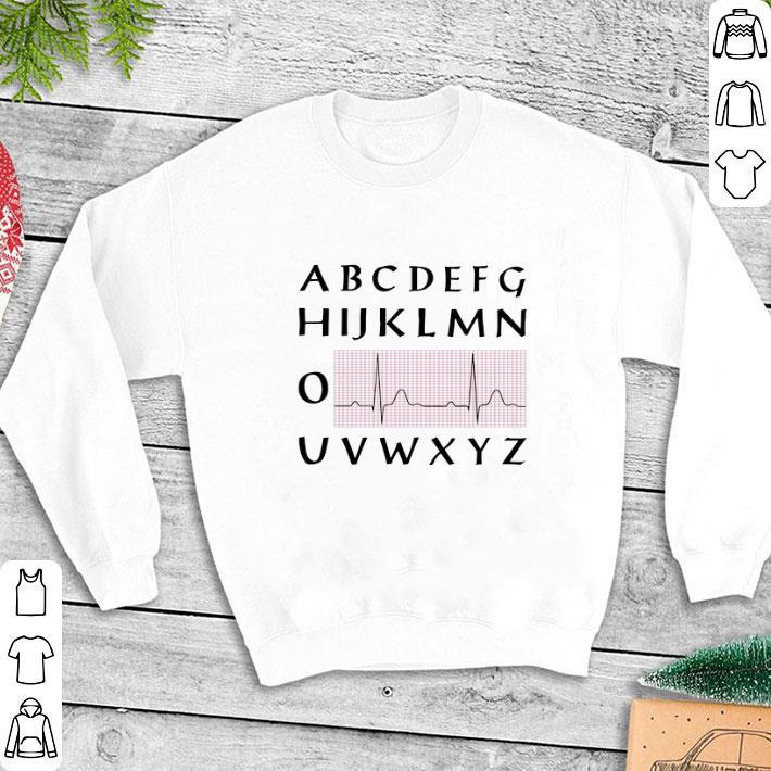 PQRST nurse alphabet heartbeat shirt