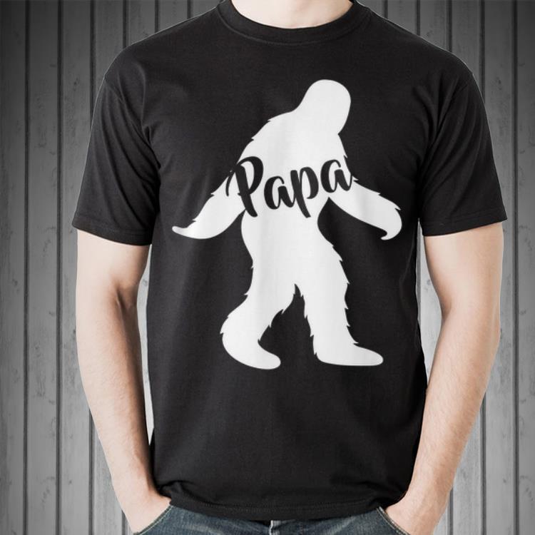 Papa Squatch for Dad Sasquatch Bigfoot shirt