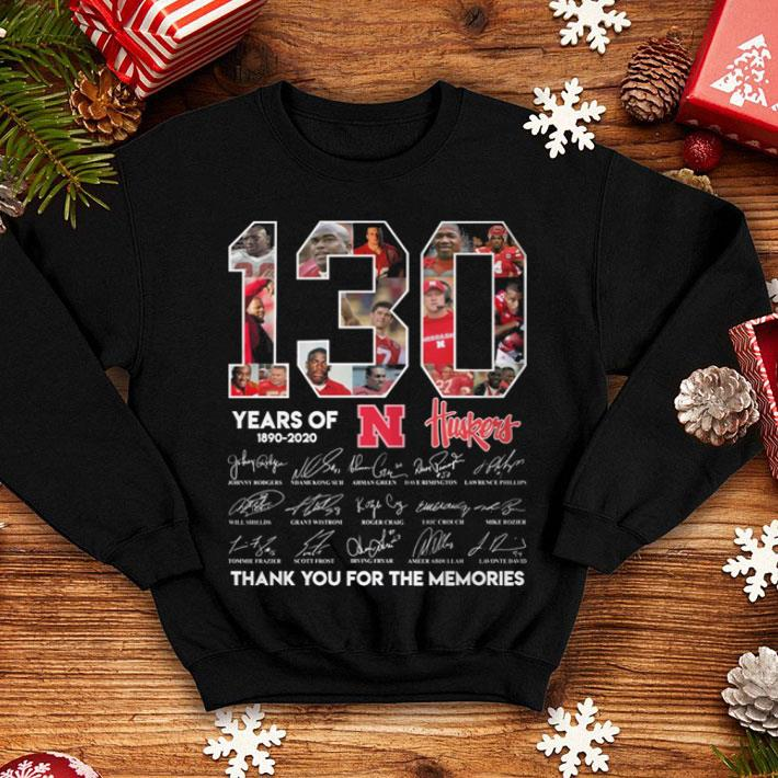 130 years of 1890-2020 N Huskers signatures shirt