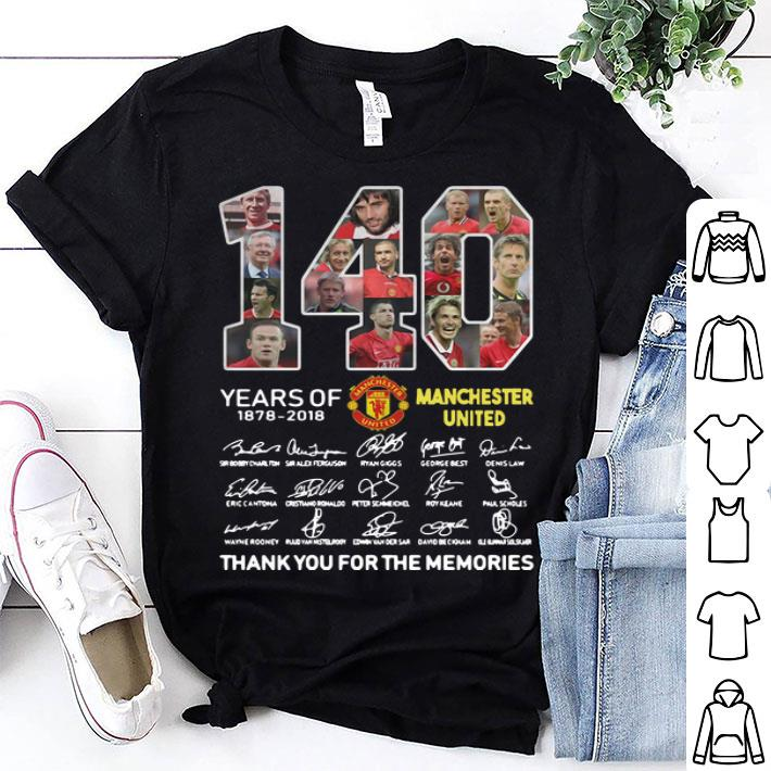 140 Years of Manchester United 1878-2018 signatures shirt