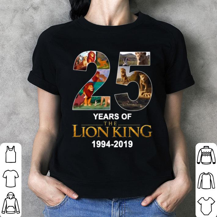 25 Years Of The Lion King 1994-2019 shirt