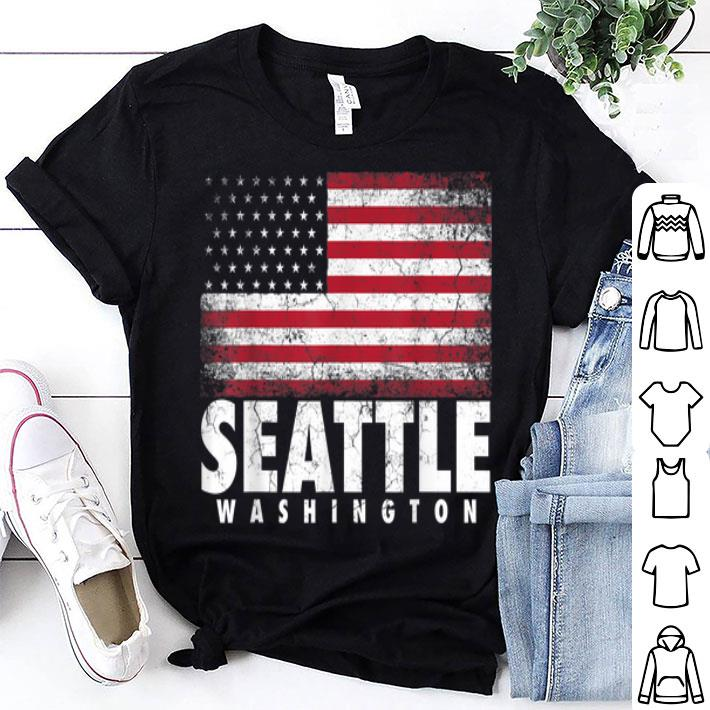 4th Of July Seattle Washington American Flag shirt