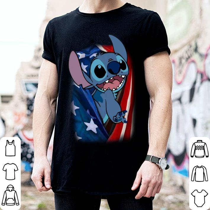 4th july independence day Stitch American flag shirt