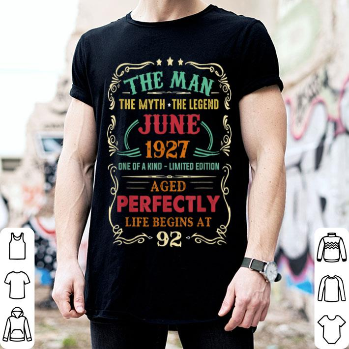 92nd Birthday The Man Myth Legend June shirt