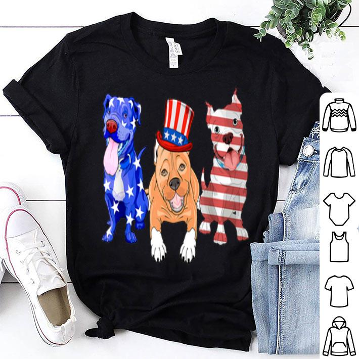 American Flag Pitbull For Dogs Lovers shirt