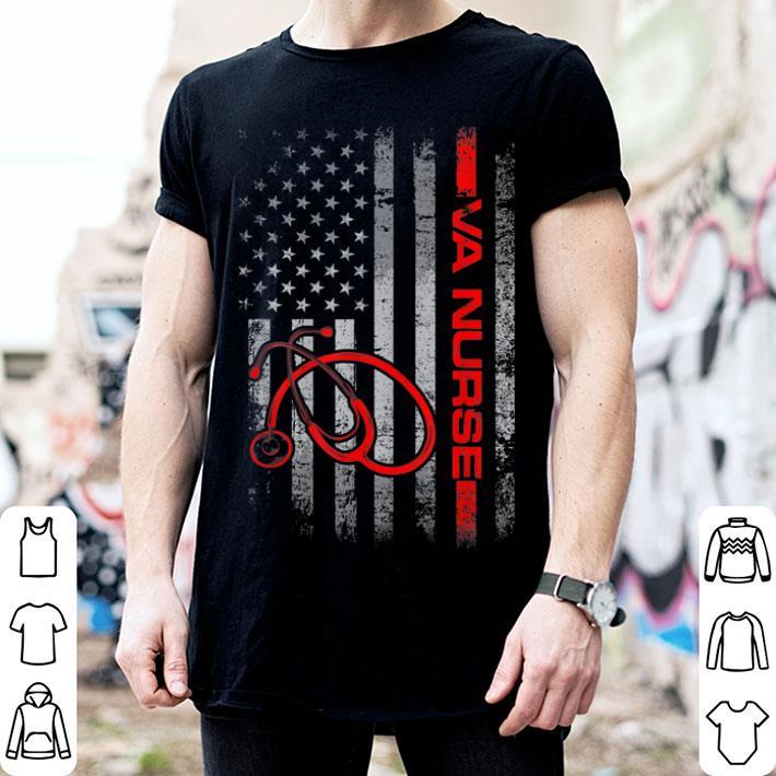 American Flag VA Nurse Patriotic 4th of July shirt