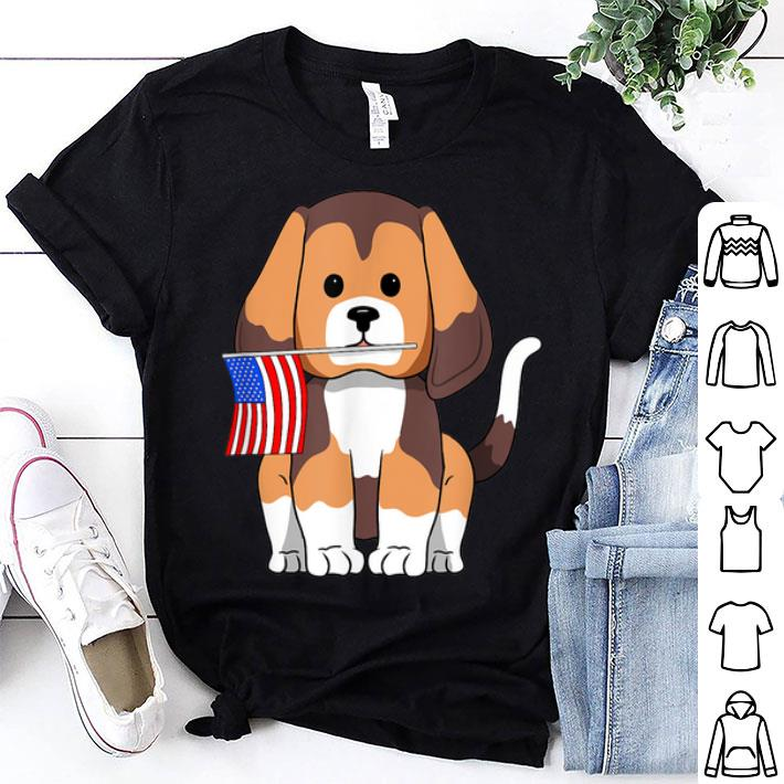 Beagle Dog 4th of July Independence Day Patriotic America Flag shirt