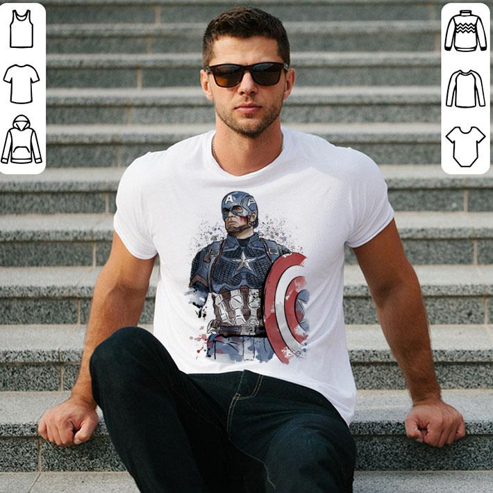 Captain America watercolor shirt