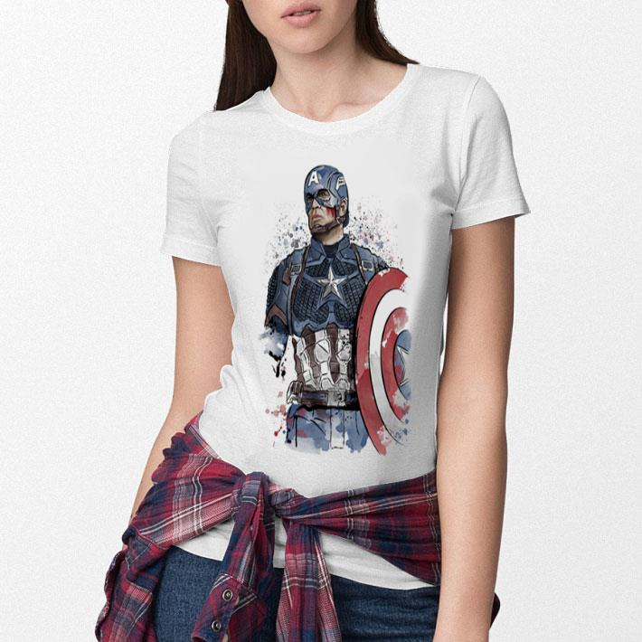 Captain America watercolor shirt