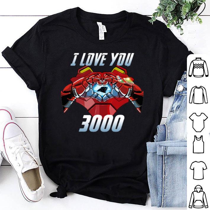 Carolina Panthers I Love You 3000 Iron Man shirt
