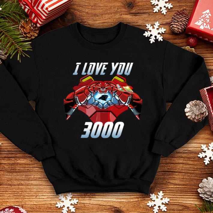 0ac44674 Carolina Panthers I Love You 3000 Iron Man shirt, hoodie, sweater ...