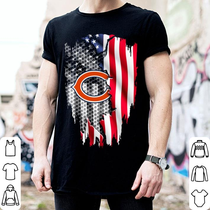 Chicago Bears American flag shirt