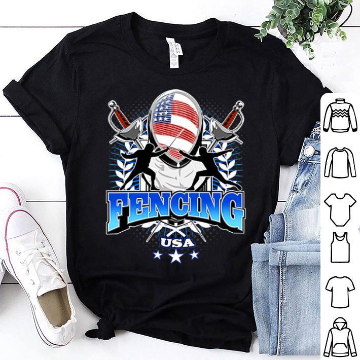 Fencing USA American flag shirt