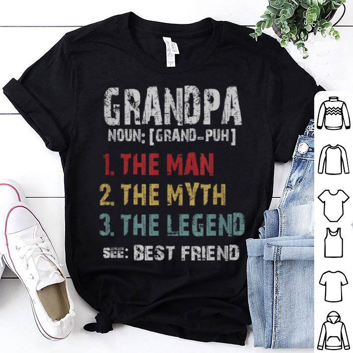 Grandpa Definition The Man The Myth The Legend Vintage Tshi shirt