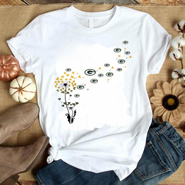 Green Bay Parkers dandelion flower shirt