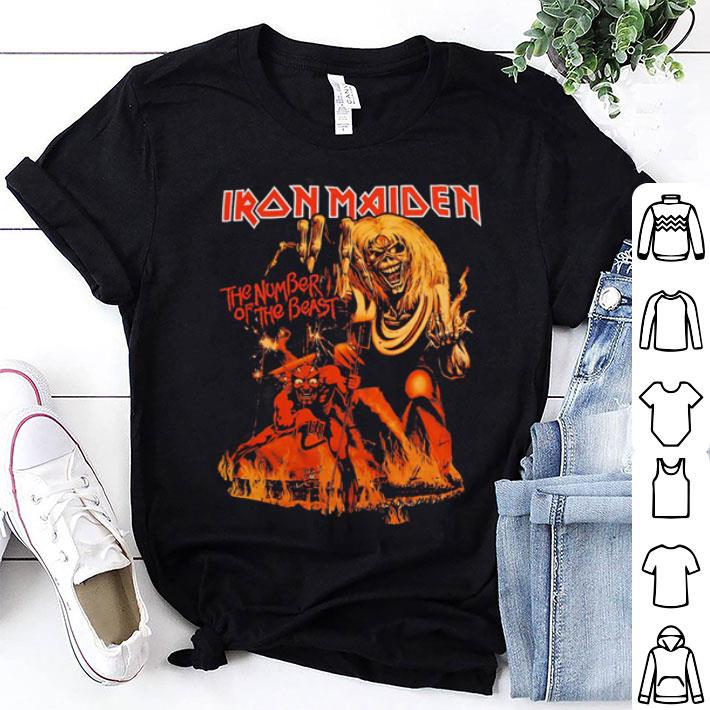 Iron Maiden the number of the beast shirt