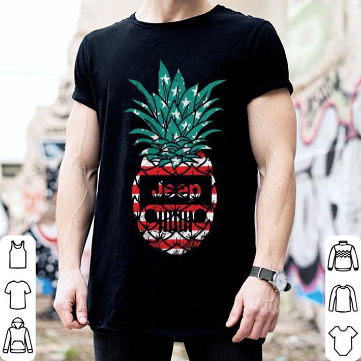 Jeep pineapple American flag shirt