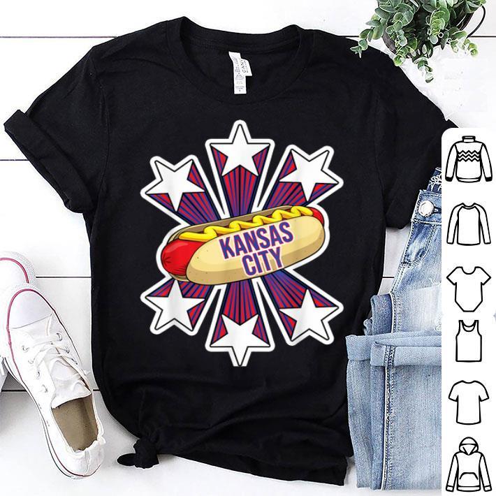 Kansas City Hot Dog 4th of July USA Patriotic Pride shirt