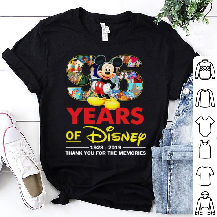 Mickey 96 Years Of Disney 1923-2019 Thank You For The Memories shirt