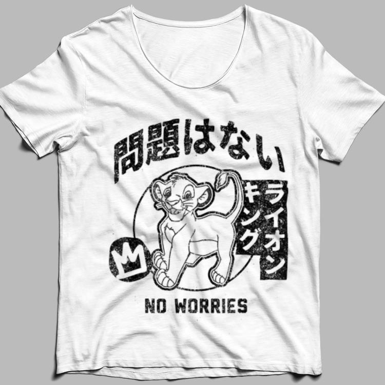 Disney Lion King Simba No Worries Kanji shirt 1
